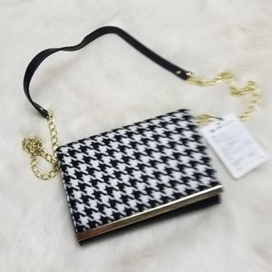 Banana Republic Houndstooth Crossbody Purse New